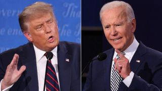Donald Trump and Joe Biden during the first presidential debate in Cleveland