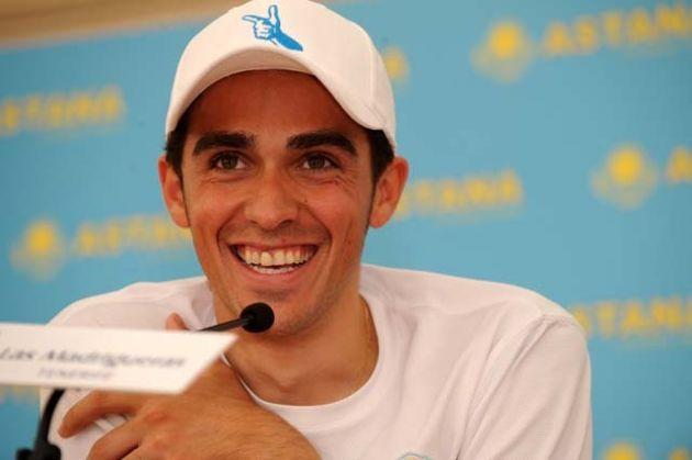 Alberto Contador Astana press conference Tenerife Dec 08