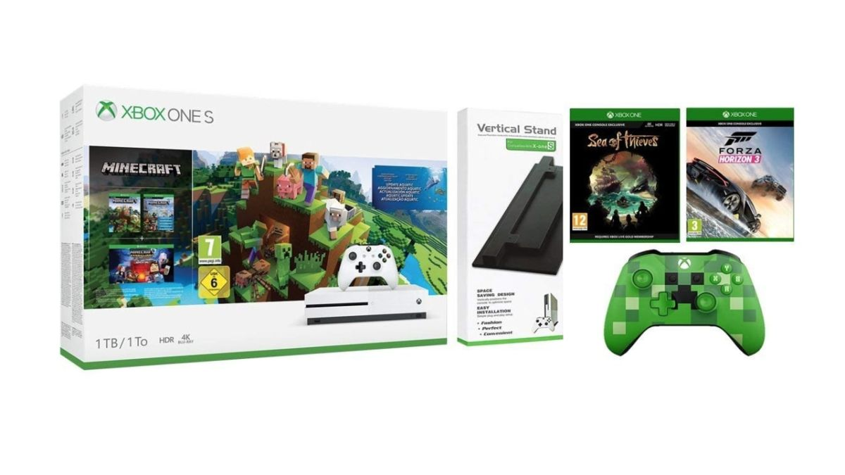 Get the ultimate Xbox One S bundle for £199 in the Amazon Prime Day sale, including Sea of Thieves, Forza Horizon 3, and SO MUCH MINECRAFT