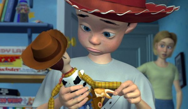 Andy in cowboy hat in Toy Story