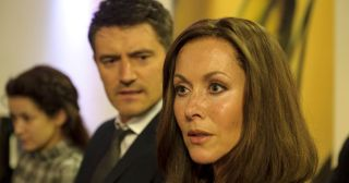 If looks could kill! Amanda Mealing as Casualty's Connie Beauchamp