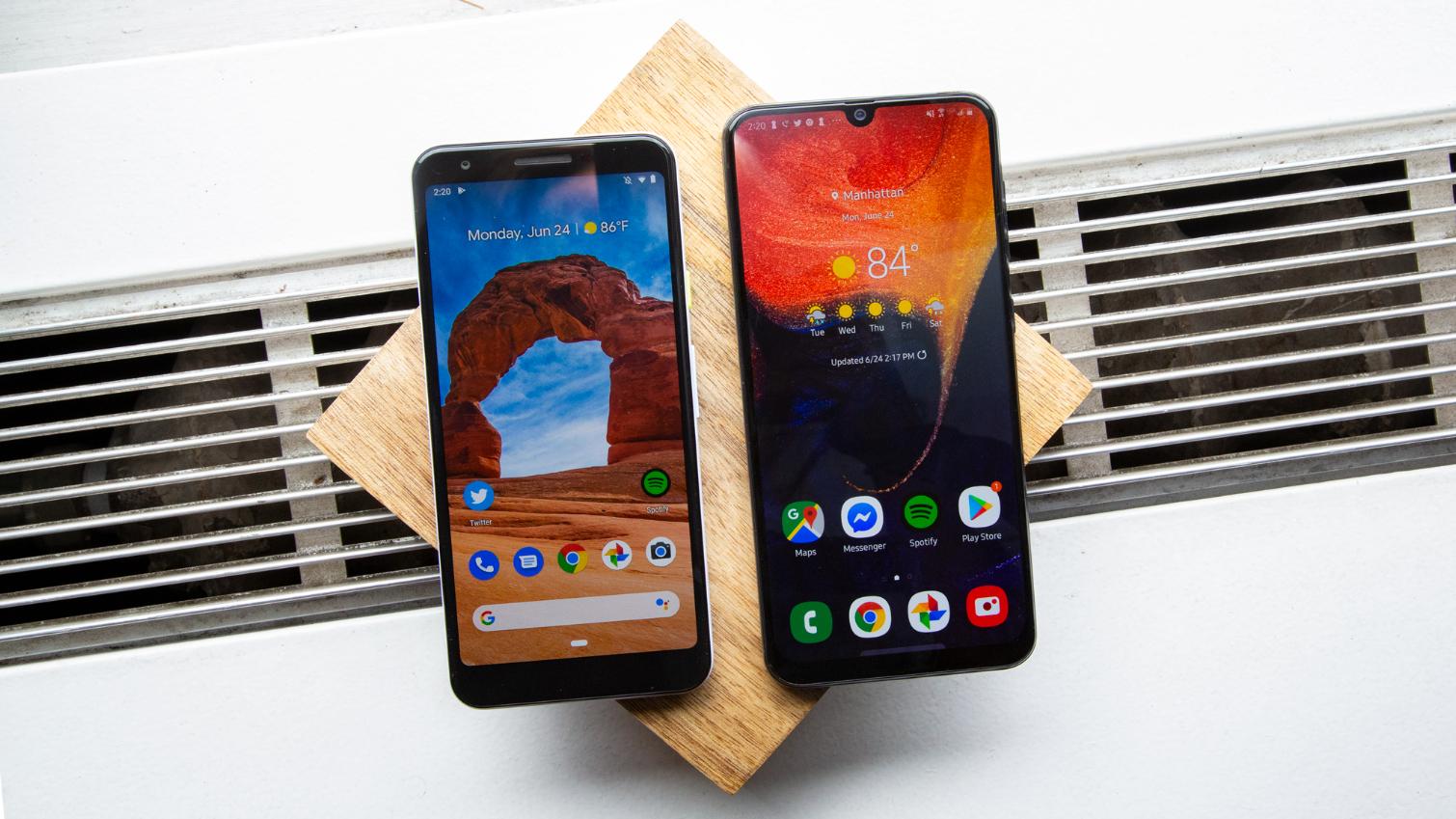 Galaxy A50 vs  Pixel 3a: Which Bargain Smartphone Wins