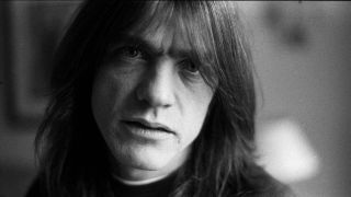 A portrait of Malcolm Young