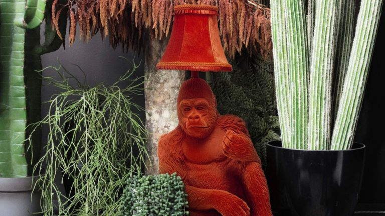 Debenhams lighting: abigail ahern orange gorilla lamp
