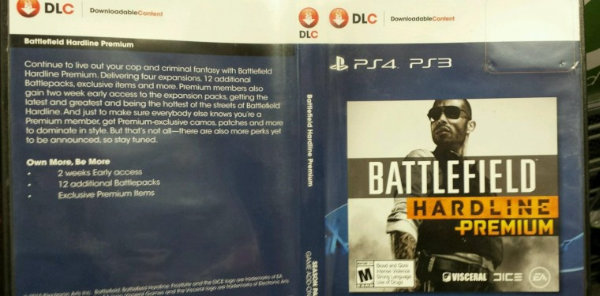 Image of GameStop's Battlefield Hardline Premium packaging