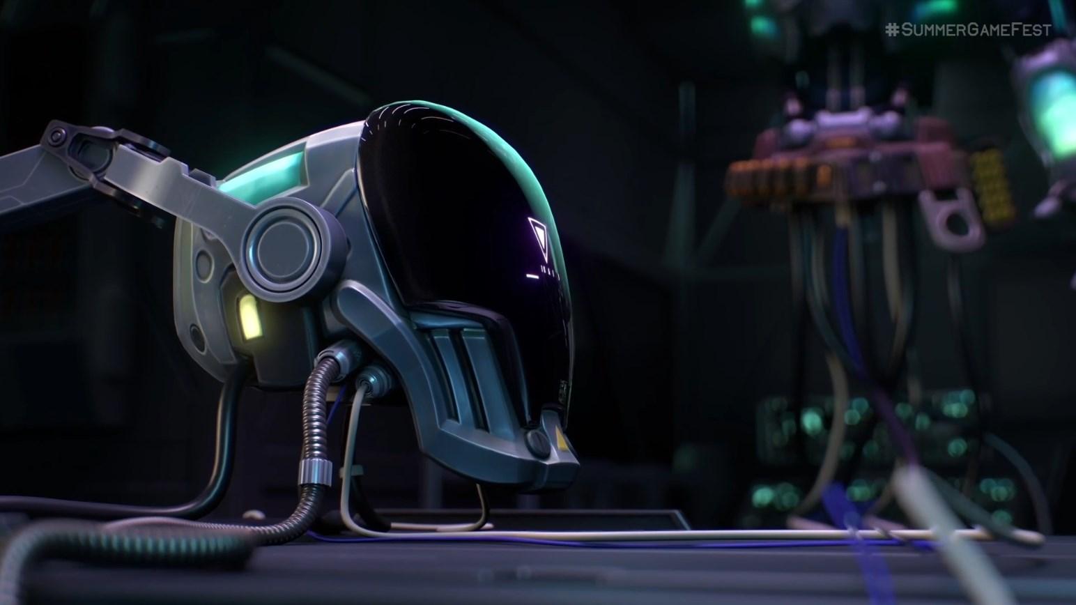 A robotic helmet