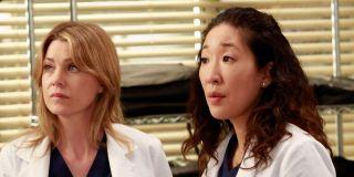 Sandra Oh alongside Ellen Pompeo in _Grey's Anatomy._