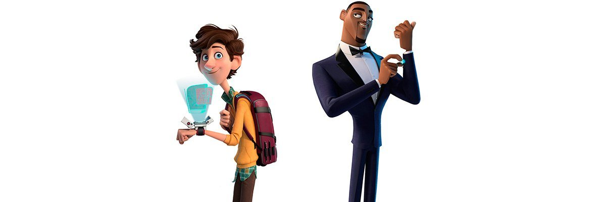 Spies in Disguise the scientist and the spy side by side