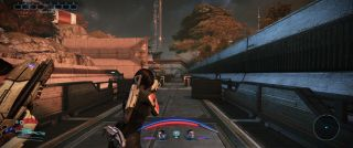 Mass Effect 1 modded with an FOV of 100