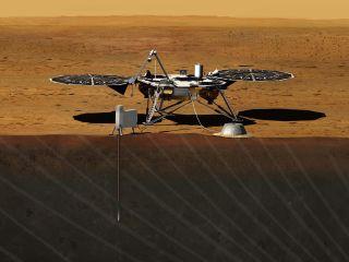 nasa mars insight lander art