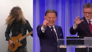 Andrew Antunes riffs along to American pastor