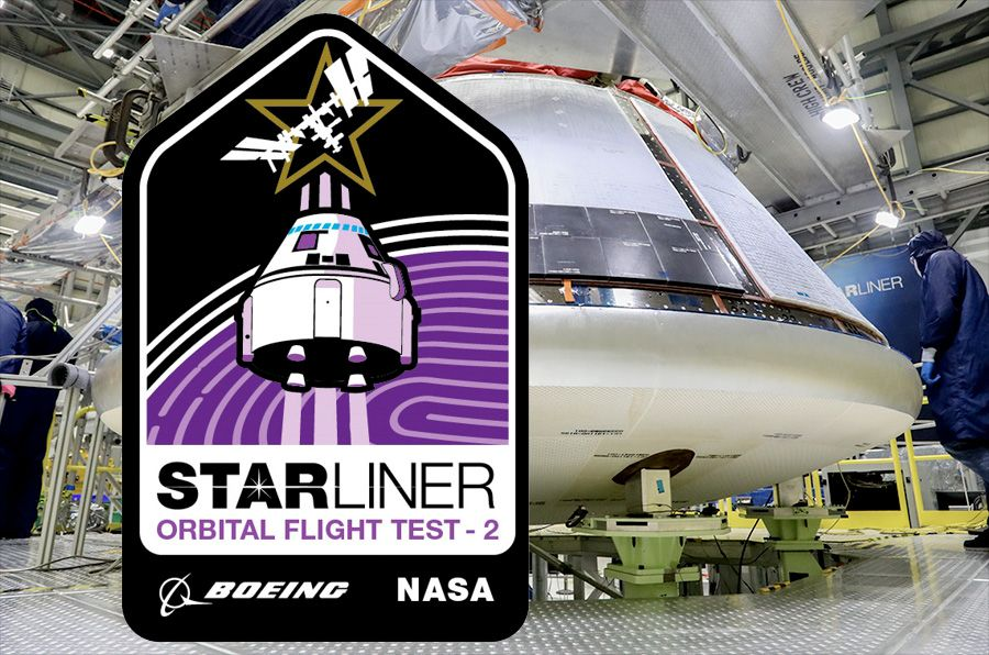 Boeing reveals mission patch for second Starliner orbital flight test