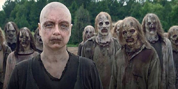 Samantha Morton as Alpha in The Walking Dead Season 9 on AMC