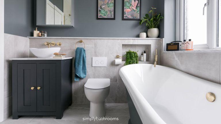 small bathroom design hack