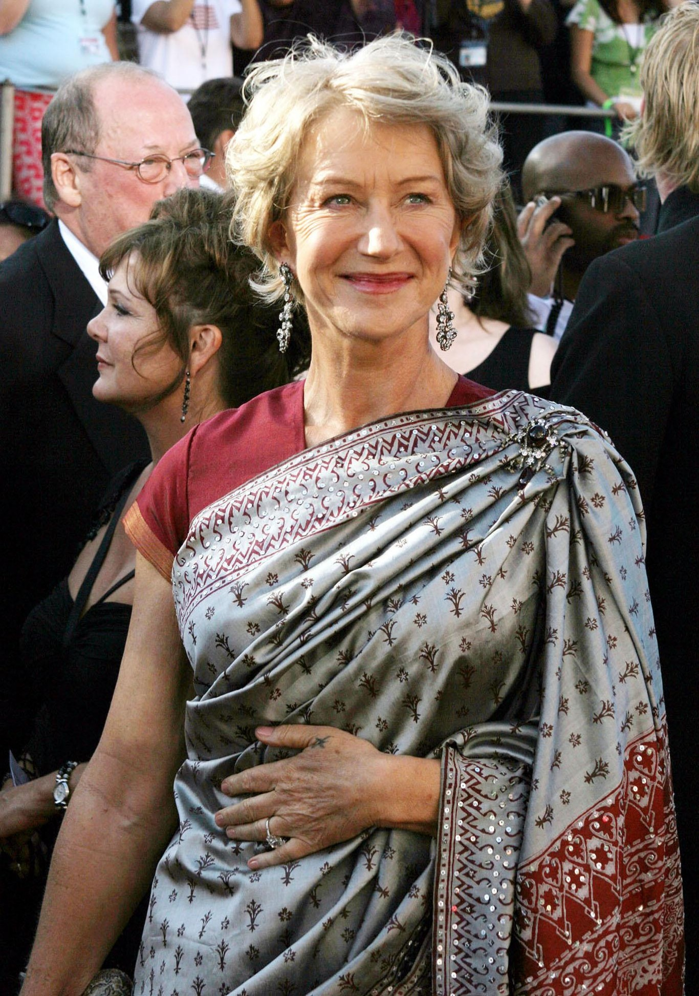 Helen Mirren arrives for the 56th Annual Emmy Awards in 2004
