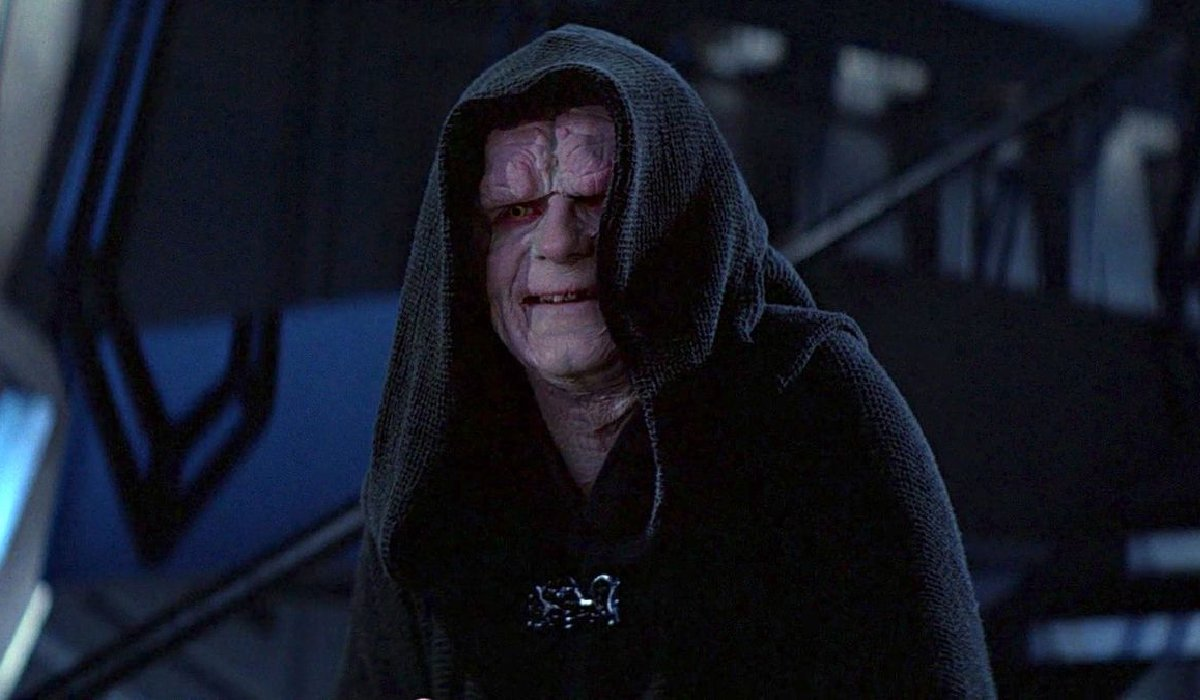 Return of the Jedi Emperor Palpatine smiles on the bridge of the Second Death Star
