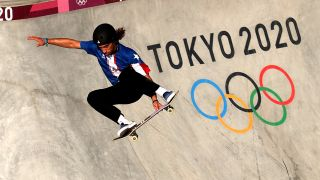 how to watch park skateboarding: Steven Pineiro of Team Puerto Rico in action during a training session