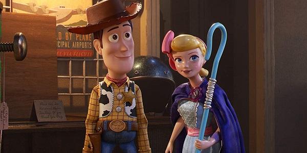 Woody and Bo Peep in Toy Story 4 Pixar