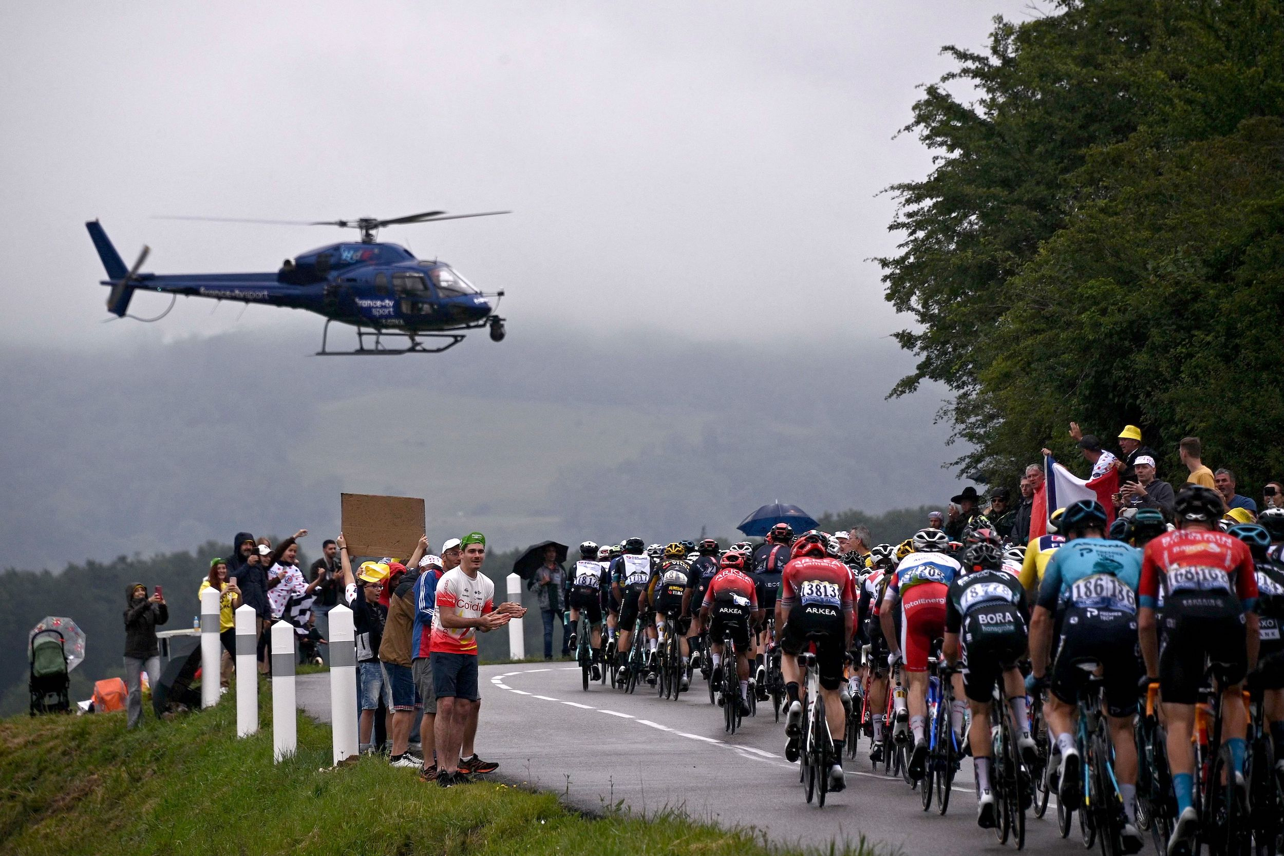 Tour de France stage eight ridden in horrible conditions