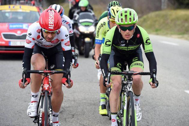 Thomas De Gendt and Andrew Talansky escape on stage five of the 2015 Paris-Nice