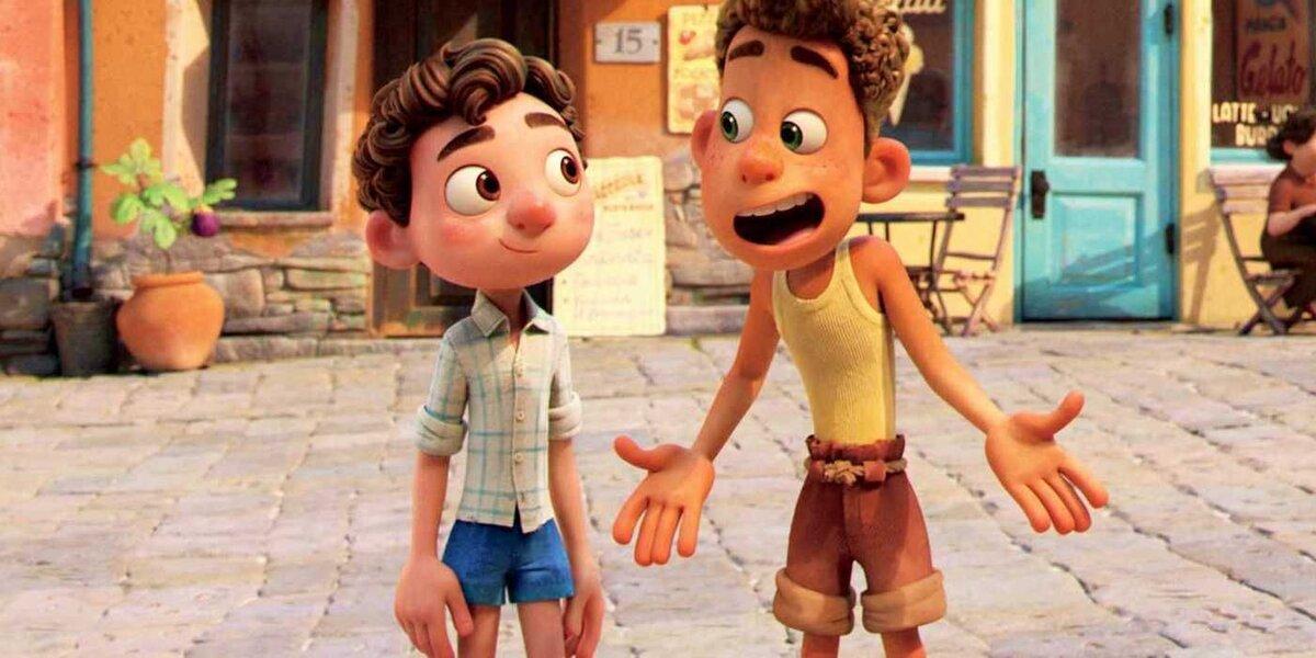 Luca and Alberto in Luca on Disney+.