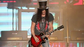 Slash of Guns N' Roses performs in concert during weekend one of the 2019 ACL Fest at Zilker Park on October 4, 2019 in Austin, Texas