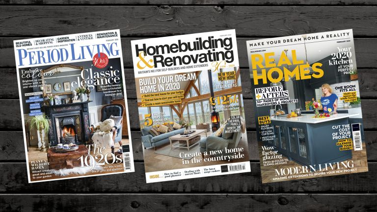 Covers of Real Homes, Period Living, Homebuilding & Renovating
