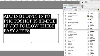 How to add fonts in Photoshop: Font list in Photoshop