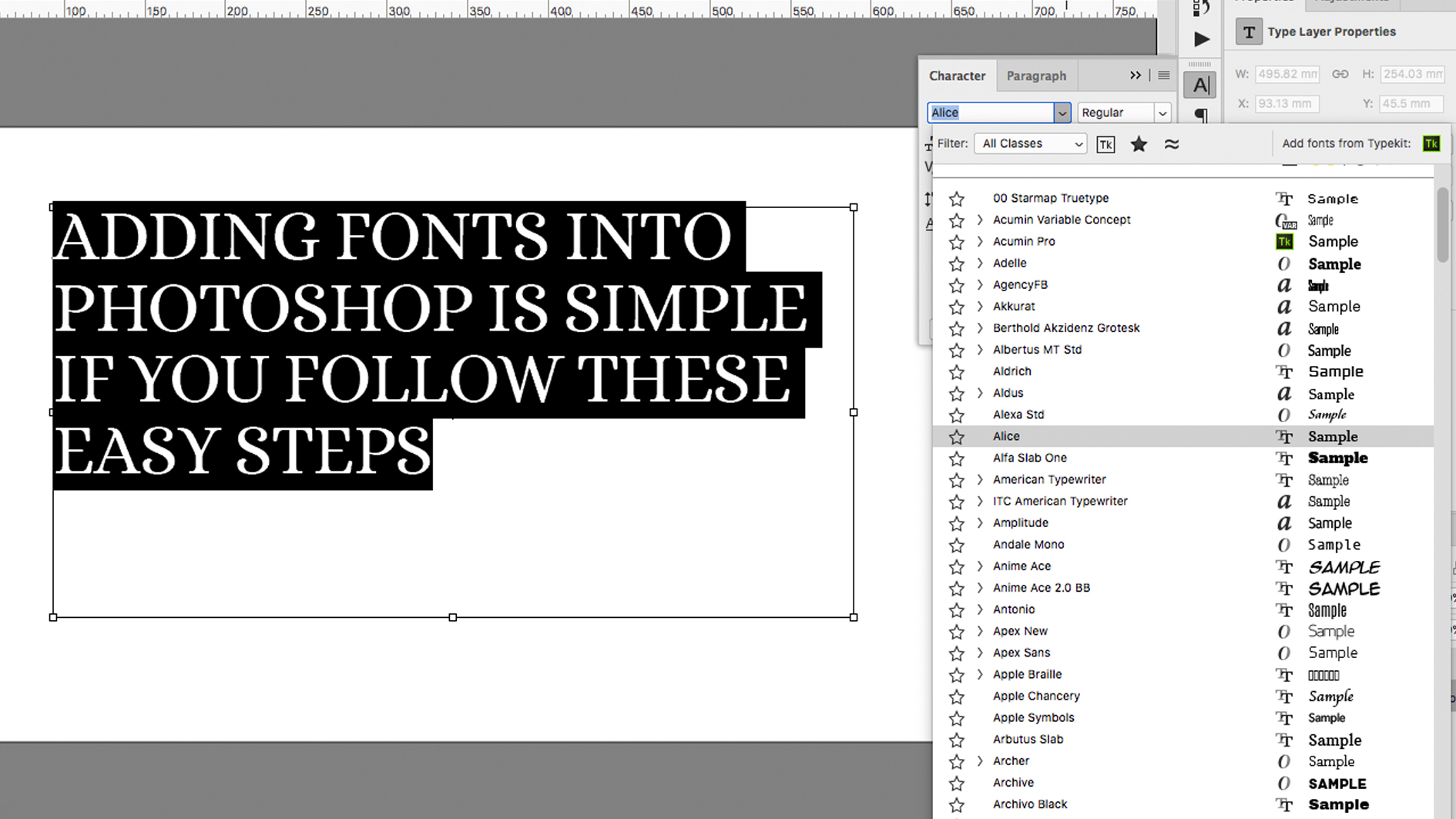 How To Add Fonts In Photoshop Creative Bloq
