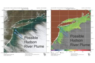 Possible satellite signature of a Hudson River plume
