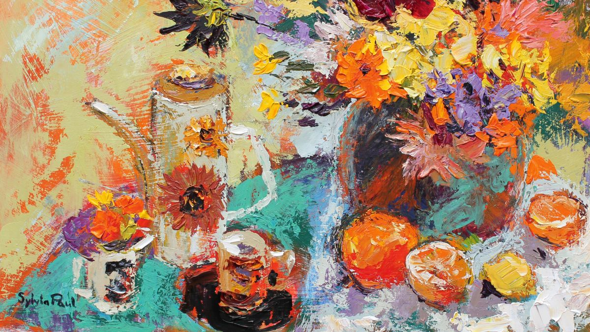 Paint an expressive still life in acrylics