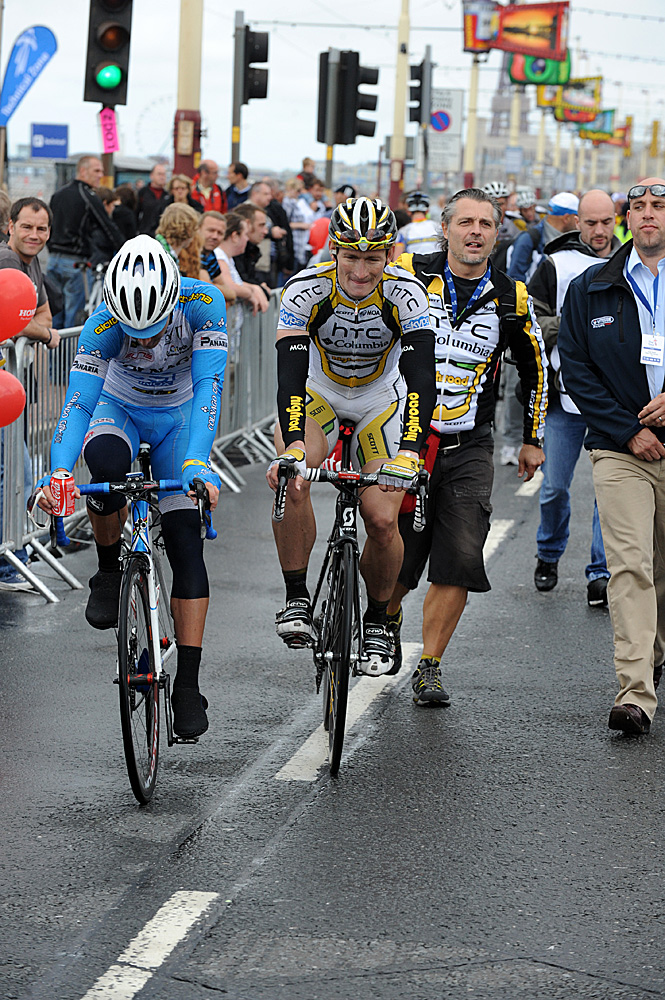 Andre Greipel wins, Tour of Britain 2010, stage one