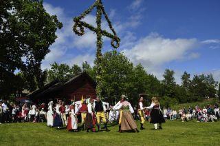 A Swedish maypole dance