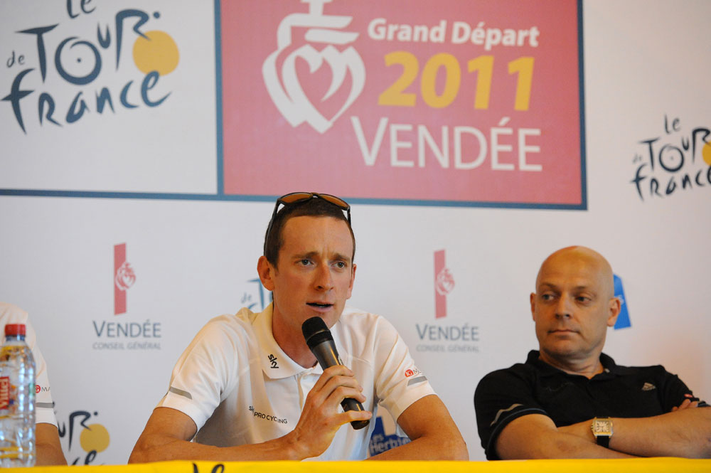 Bradley Wiggins and David Brailsford, Sky, Tour de France 2011 press conference