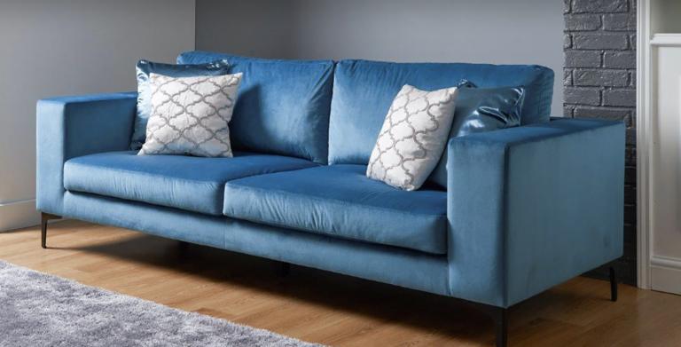 The Range velvet sofa
