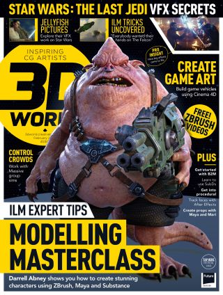 3D World issue 230 cover featuring Star Wars VFX secrets