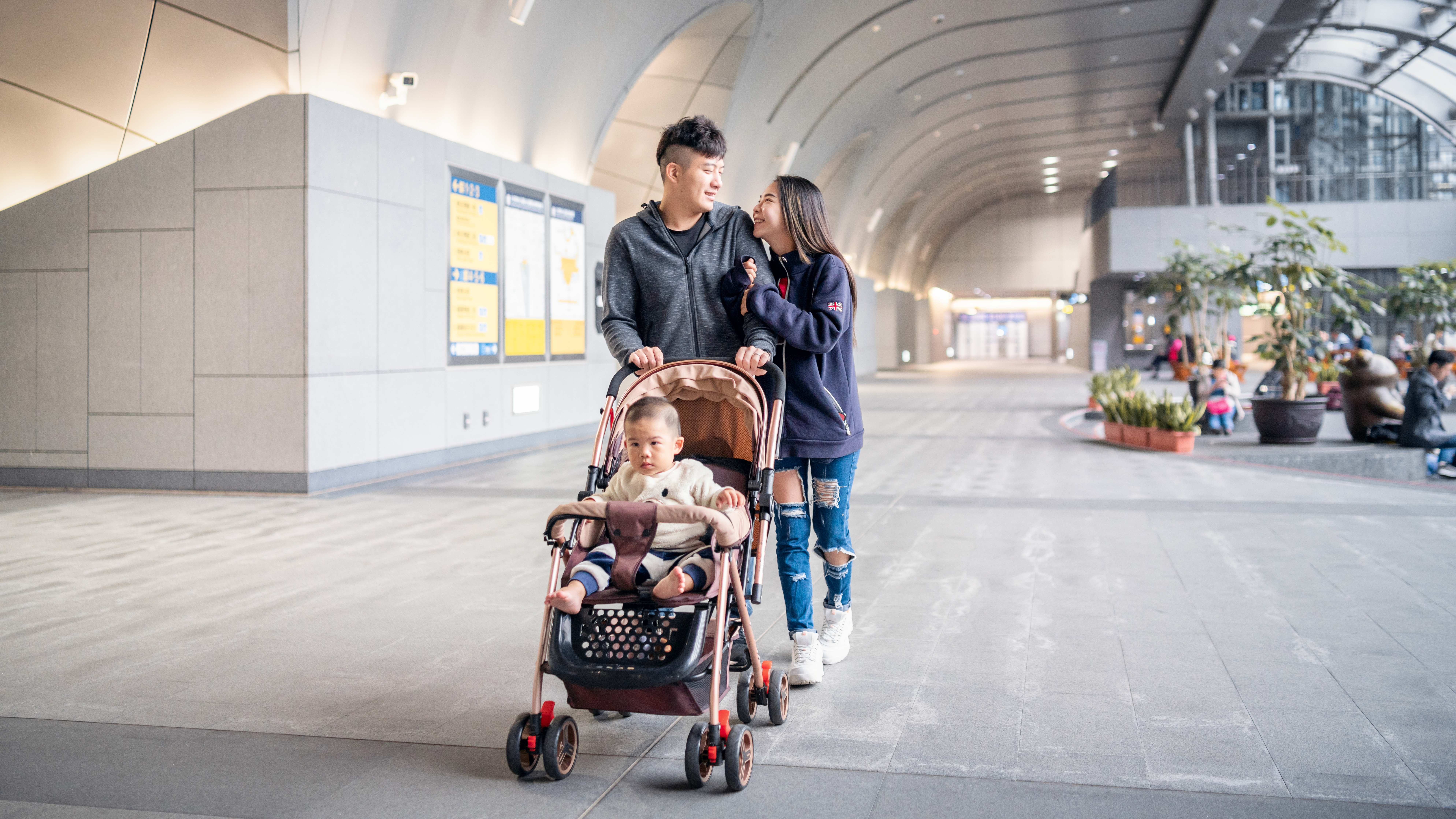Portable foldable cabin lightweight baby stroller pushchair pram