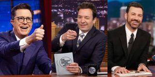The Late Show host Stephen Colbert, The Tonight Show host Jimmy Fallon, Jimmy Kimmel Live host