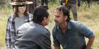 Negan with Rick and Carl in the Walking Dead Season 7 finale