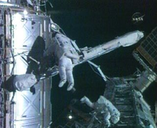 Spacewalkers Wire up Space Station's New Room