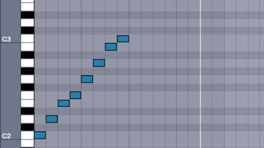 How to understand scales by using your DAW's piano roll