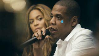 Jay Z crying