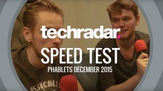 Phablet speed test