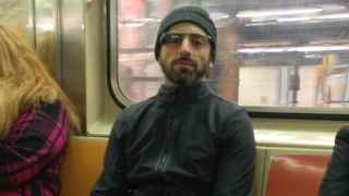 Sergey Brin takes Google Glass for a ride on New York subway