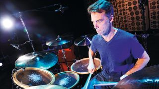 Matt Cameron at the kit