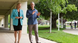 Tim Cook and Virginia Rometty