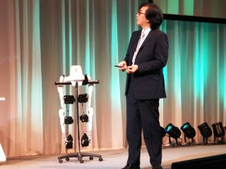 HAL robot walker shown off at CEATEC 2011