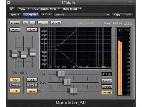 Monofilter enables you to tailor the balance of a signal between mono and stereo.