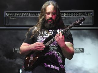 John Petrucci shredding at the Beacon Theatre in NYC