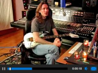 Steve Vai in his Mothership studio